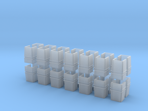 7-8n2 Straight Stake Pocket 28 Pc in Smooth Fine Detail Plastic
