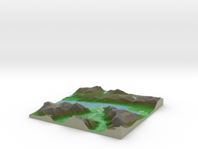 Terrafab generated model Wed Jul 02 2014 12:08:37  in Full Color Sandstone