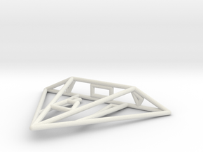 Mamba Wireframe 1-300 in White Natural Versatile Plastic