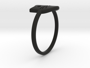 Meow Ring (Size 8) in Black Natural Versatile Plastic