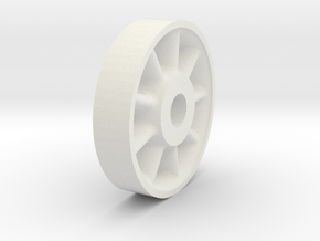 26in Wheel Center in White Strong & Flexible