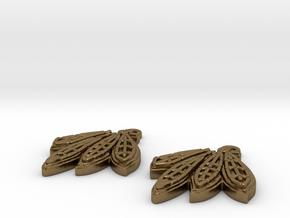 Blackhawks Earrings in Natural Bronze