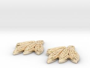Blackhawks Earrings in 14K Yellow Gold