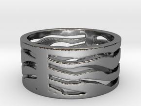 Safari ring  in Premium Silver