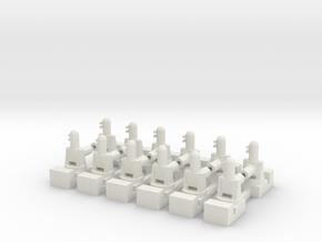 1/285 Phalanx CIWS (x12) in White Natural Versatile Plastic