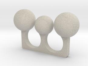 3 Sphere Open Ring in Natural Sandstone