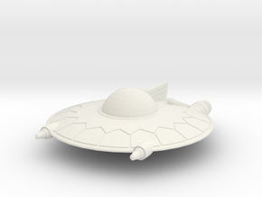 Selenite Violator  Saucer in White Natural Versatile Plastic