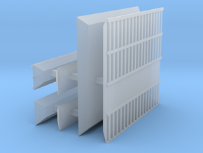1/600 Shipping Container Stack of 4 in Smooth Fine Detail Plastic