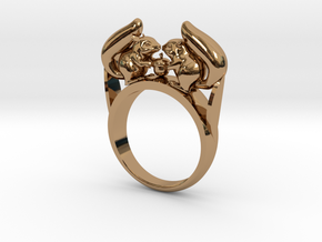 Squirrel Ring in Polished Brass