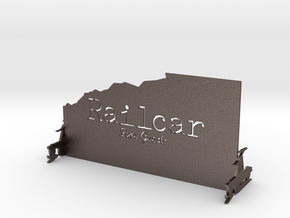 Railcar Stand in Polished Bronzed Silver Steel