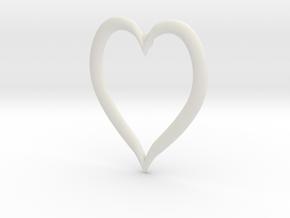 Heart Earring in White Natural Versatile Plastic