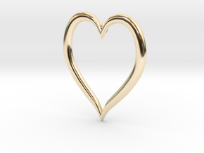 Heart Earring in 14K Yellow Gold