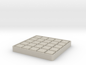 Dots And Boxes, Elegant Edition in Natural Sandstone