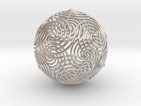 Spiraling Icosahedron in Platinum