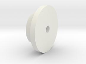 BMGimbal Cap in White Natural Versatile Plastic