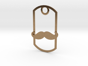 Movember dog tag in Natural Brass