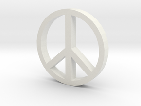 Peace 100 in White Natural Versatile Plastic