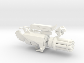 TFP Beast Hunters Optimus Gatling in White Strong & Flexible Polished