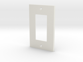 Single Wall Plate in White Strong & Flexible