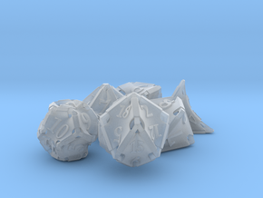 Stretcher Dice Set in Smooth Fine Detail Plastic