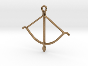 bow pendant 2 in Natural Brass