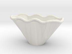 Wave Bowl Correct in White Natural Versatile Plastic