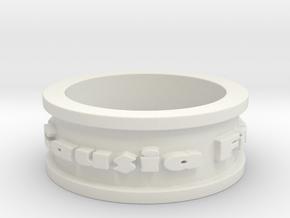 Omnia Causa Fiunt Ring Size 9.25 in White Natural Versatile Plastic