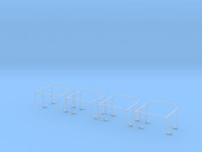 Überschlagbügel Komplett 4x für Zetrosdoppelkabine in Smooth Fine Detail Plastic