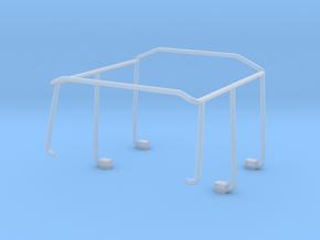 Überschlagbügel komplett für Zetrosdoppelkabine in Frosted Ultra Detail