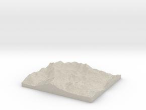 Model of Alpine Meadows in Natural Sandstone
