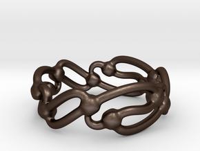 Rolling Wavez Ring  in Matte Bronze Steel