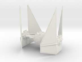 Tie Interceptor in White Natural Versatile Plastic