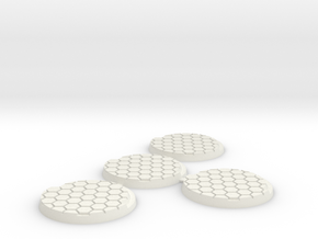 40mm-hex-4pack in White Natural Versatile Plastic