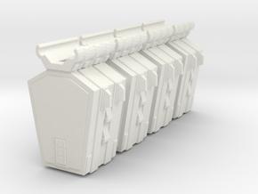 Pulson-A Combat Transport 1-403 Drop Pods in White Natural Versatile Plastic