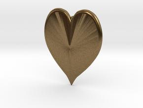 Heart Pendant in Natural Bronze