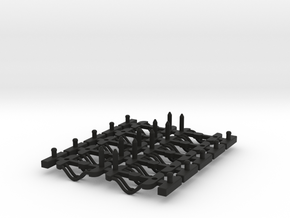 Couplings HST Coach Sprue Filleted in Black Natural Versatile Plastic