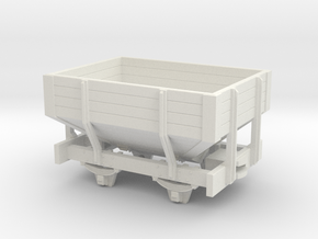 OO9 short Hopper wagon in White Strong & Flexible
