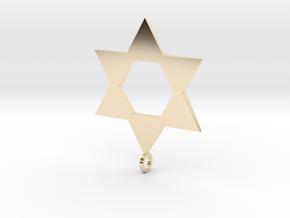 Star Of David in 14K Yellow Gold