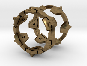 Mystery Ring (Large, 22 mm opening) in Natural Bronze