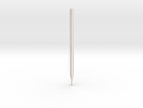 Leica / Wild GST20 1/4 scale tripod lower leg in White Natural Versatile Plastic
