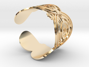 The Doctor's name (Engraved): Cuff - Size S in 14K Yellow Gold