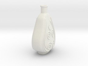 Vase2 in White Natural Versatile Plastic