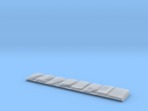 Pflaster Endteil Schräg in Frosted Ultra Detail
