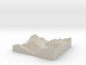 Model of Whistler in Natural Sandstone