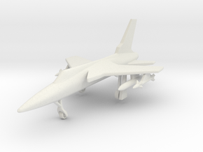 1/285 (6mm) F-105 Thunderchief  in White Natural Versatile Plastic