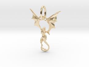 Dragon pendant # 6 in 14K Yellow Gold