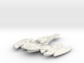 Brinok Class Battleship - With Weapon Pod - in White Strong & Flexible