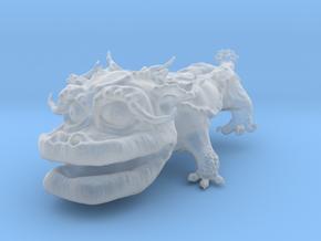 Dragon Dog v01 6cm in Smooth Fine Detail Plastic