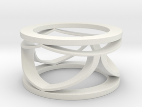 CTR Open Ring Size 12 in White Natural Versatile Plastic