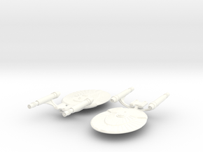 USS Victoria in White Strong & Flexible Polished